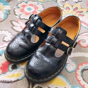 Dr Martens Mary Jane Black Shoes